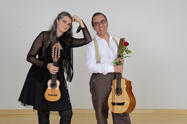 Osvaldo Torres con Silvia Balducci