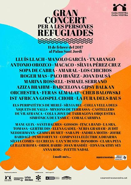 Gran Concierto para las Personas Refugiadas, Barcelona.