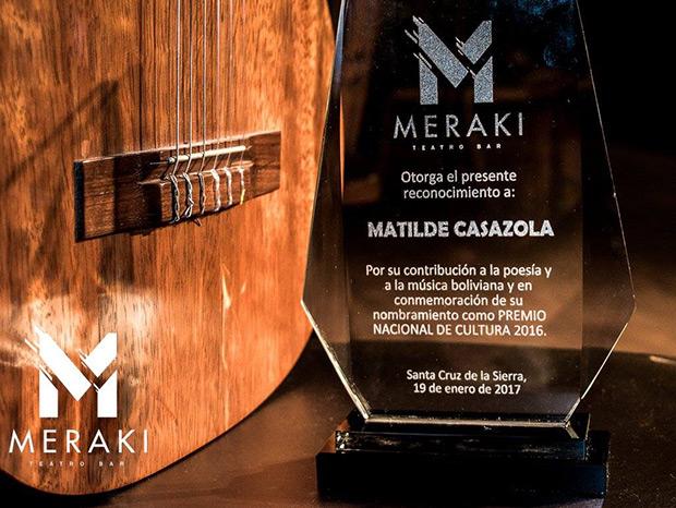 Meraki Teatro Bar se inaugurará con un homenaje a Matilde Casazola.