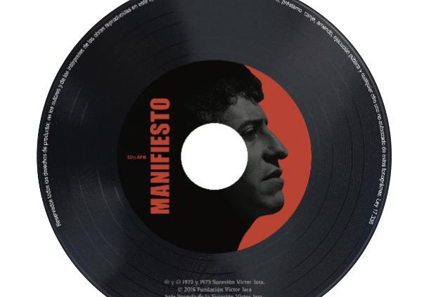 Portada del disco «Manifiesto» de Vïctor Jara.