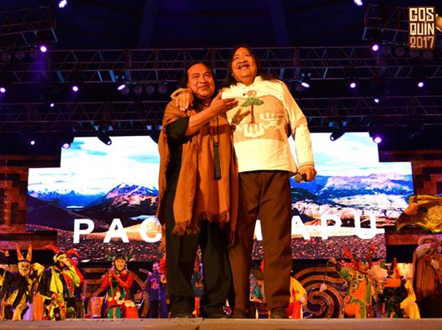 Rubén Patagonia y Tomás Lipán. © Foto Dani | Aquí Cosquín