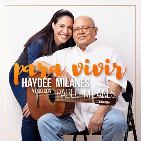 Portada del single «Para vivir» de Haydée Milanés y Pablo Milanés.