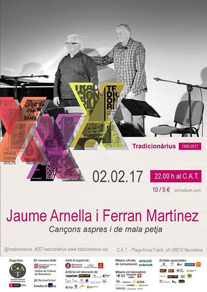 Jaume Arnella y Ferran Martínez presentan «Cançons aspres i de mala petja» en el Tradicionàrius.