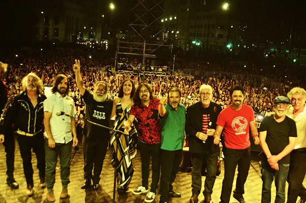 Los Jaivas y Congreso en el cierre de Rockódromo 2017. © Carlos Ormazábal / Escuelas de Rock y Música Popular
