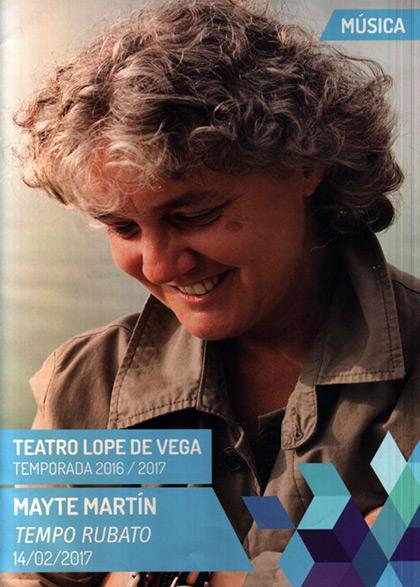 Mayte Martín en el Teatro Lope de Vega de Sevilla.