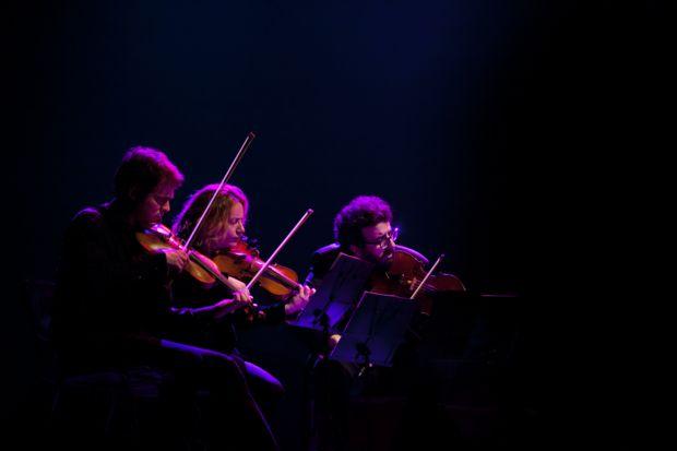 Dani Cubero, María Sanz y Bernat Bofarull. © Isabel Camps