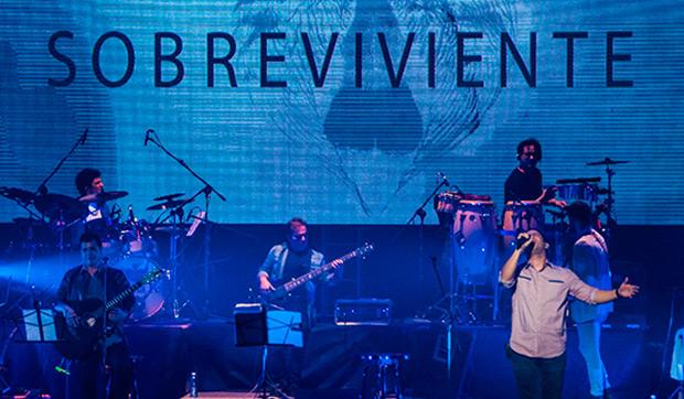 Buena Fe presenta «Sobreviviente» en el teatro Karl Marx. © ACN Marcelino Vázquez Hernández