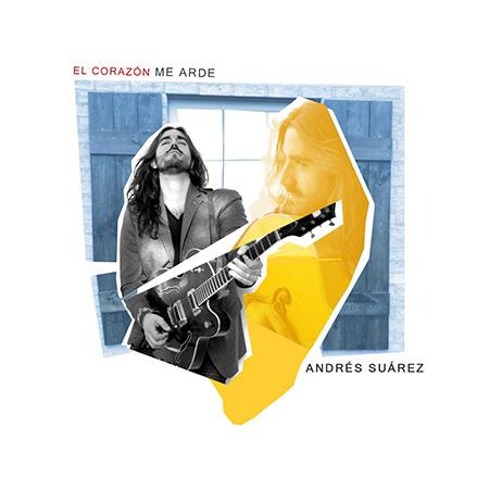 Portada del single «El corazón me arde» de Andrés Suárez.