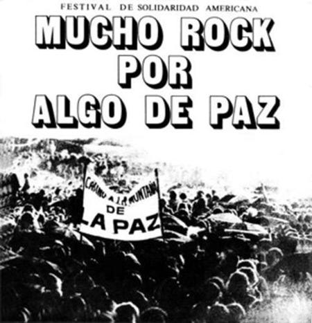 Cartel del Festival de la Solidaridad Latinoamericana de 1982.