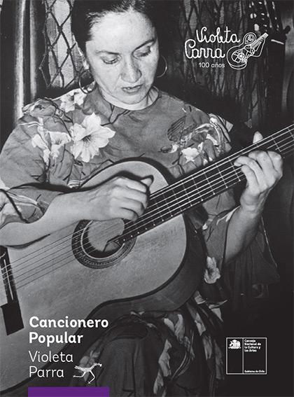 Portada del «Cancionero Popular de Violeta Parra».