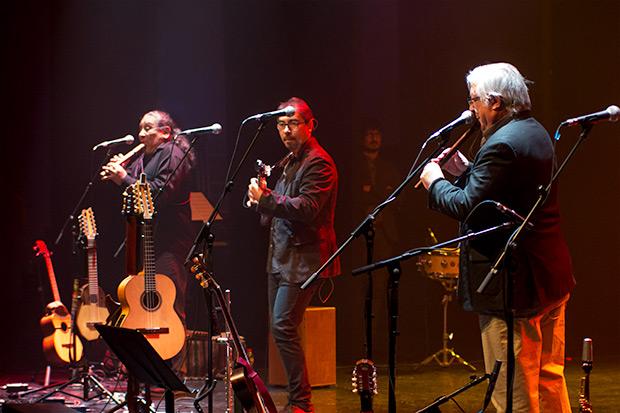 Juan Flores, César Jara y Marcelo Coulon. © Xavier Pintanel