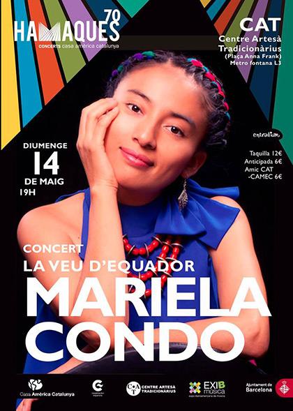 Mariela Condo, la voz del Ecuador, en Barcelona.