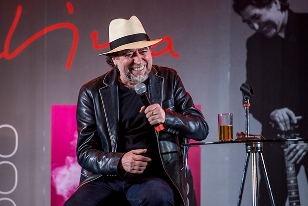 Joaquín Sabina en la rueda de prensa de presentación de su gira en México. © Prensa Cultura Ciudadana