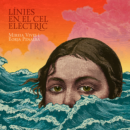 Portada del disco «Línies en el cel elèctric» de Mireia Vives y Borja Penalba.