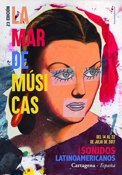 Cartel del 23 festival La Mar de Músicas de Cartagena 2017.