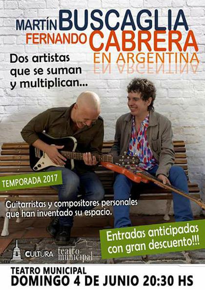 «Uno más uno es tres»: Cabrera y Buscaglia se inventan un dúo para tres shows en Argentina.