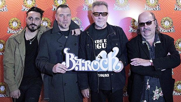 De izquierda a derecha: Santi Aysine, Fernando Ruiz Díaz, León Gieco y Litto Nebbia. © Télam