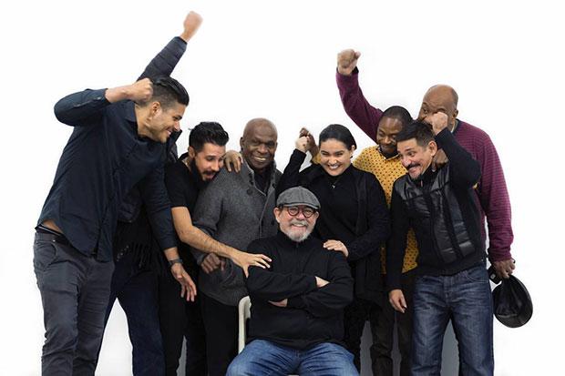 Silvio Rodríguez con su banda.