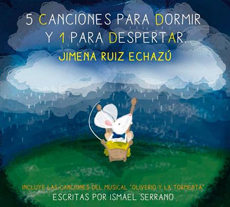 Portada del disco «5 canciones para dormir y 1 para despertar» de Jimena Ruiz Echazú.