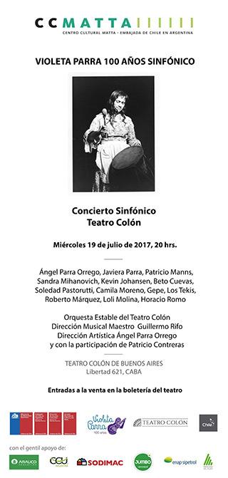 Buenos Aires homenajea a Violeta Parra con un gran concierto sinfónico.
