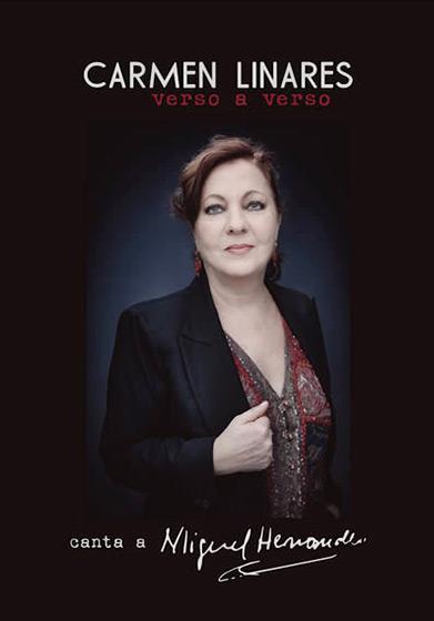 Portada del disco-libro «Verso a verso» de Carmen Linares.
