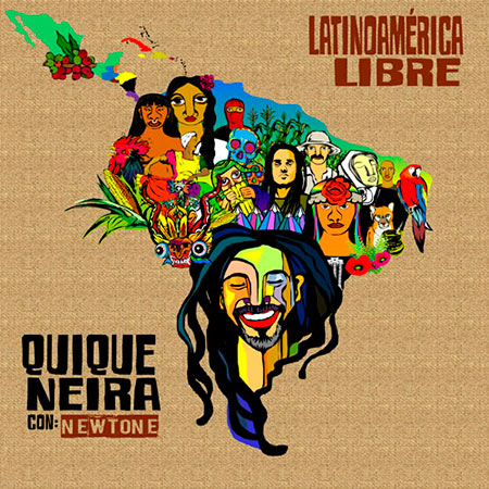 Portada del single «Latinoamérica libre» de Quique Neira.