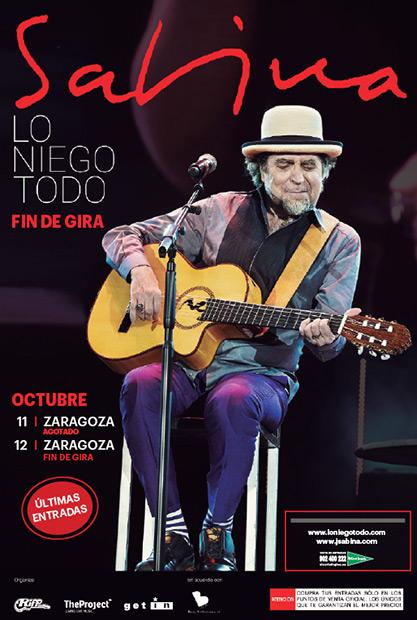 Gira «Lo niego todo» de Joaquín Sabina.