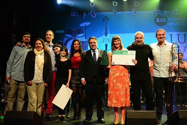 Paz Court gana XIII Concurso de composición musical Luis Advis 2017 en la categoría de Música Popular. © Prensa Consejo Nacional de la Cultura y las Artes