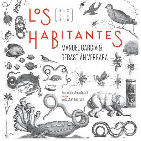 Portada del disco «Los Habitantes (Bestiario)» de Manuel García y Sebastián Errázuriz.