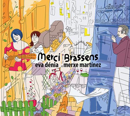 Portada del disco «Merci Brassens» de Eva Dénia y Merche Martínez.