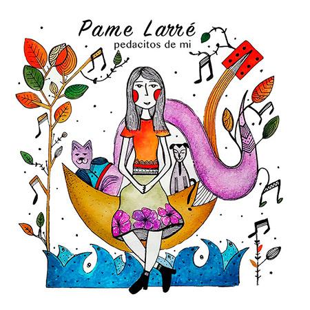Portada del disco «Pedacitos de mí» de Pame Larré.