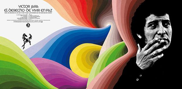 Gráficas del disco «El derecho de vivir en paz» de Víctor Jara.