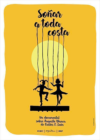 Cartel del documental «Soñar a toda costa» de Carlos E. León.