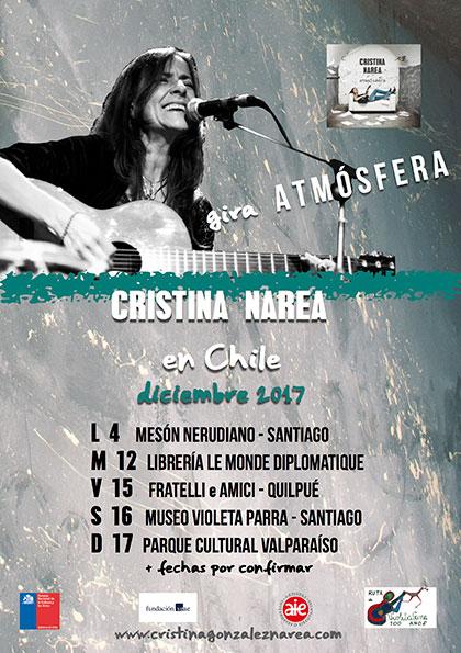 Gira por Chile diciembre de 2017 de Cristina Narea.