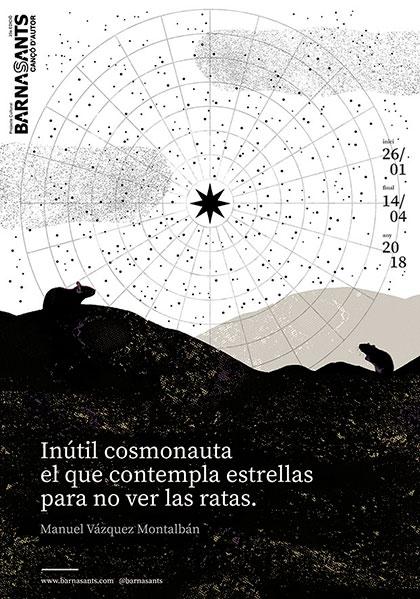 Afiche 23 Festival BarnaSants 2018.