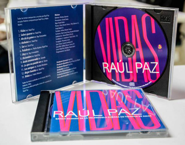 Disco «Vidas» de Raúl Paz. © Abel Padrón Padilla