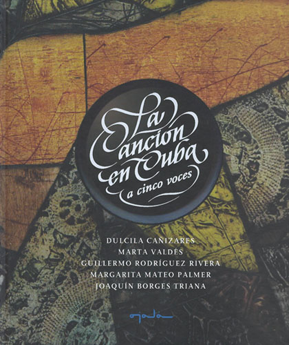 Portada del libro «La Canción en Cuba a cinco voces».