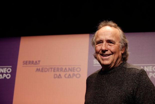 Joan Manuel Serrat en la rueda de prensa de presentación de la gira «Mediterráneo da capo». © EFE