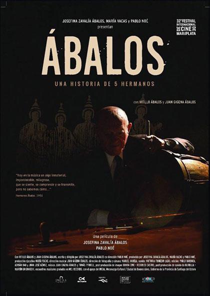 Cartel del documental «Ábalos. Una historia de 5 hermanos» de Josefina Zavalía Ábalos y Pablo Noé.