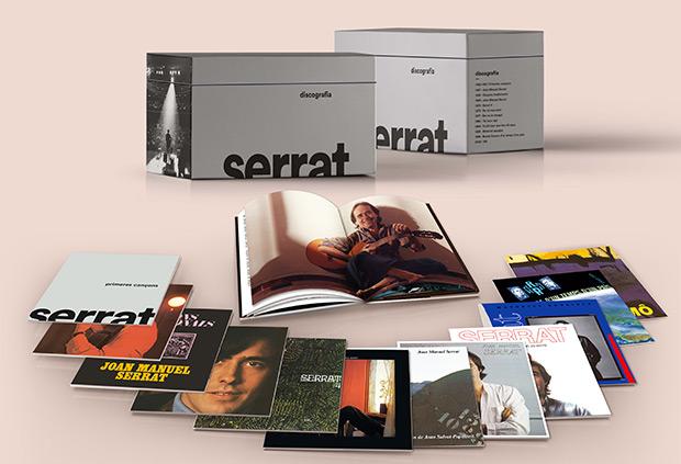 Serrat lanza «Discografia» una caja con toda su obra en catalán