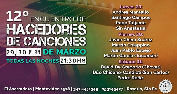 12 Encuentro de Hacedores de Canciones Montevideo 2018.