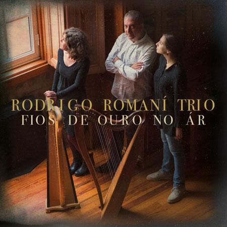 Portada del disco «Fios de ouro no ár» de Rodrigo Romaní Trío.