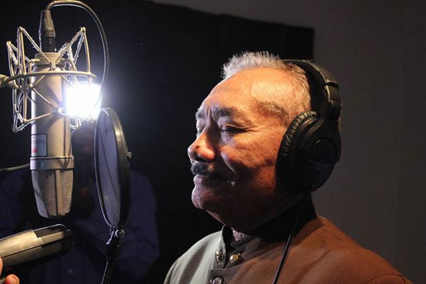 Vidal Colmenares en la grabación del CD sobre los Cantos de Trabajo del Llano. © Prensa MPPC