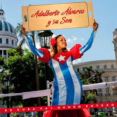 Portada del disco «De Cuba pa'l mundo entero» de Adalberto Álvarez.