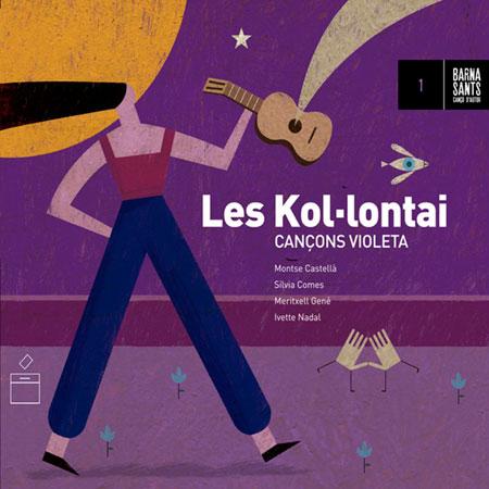Portada del disco «Cançons violeta», de Les Kol·lontai.