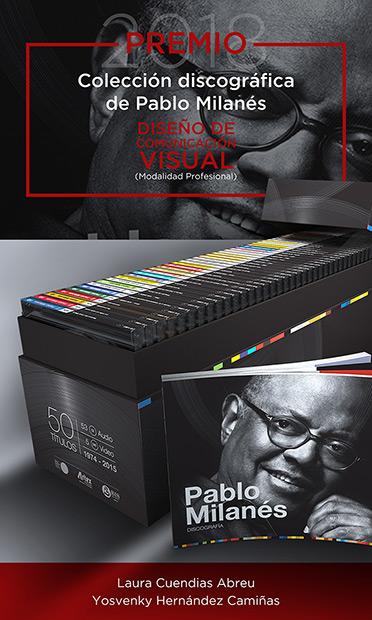 Premio Nacional de Diseño para la colección «Pablo Milanés Discografía».