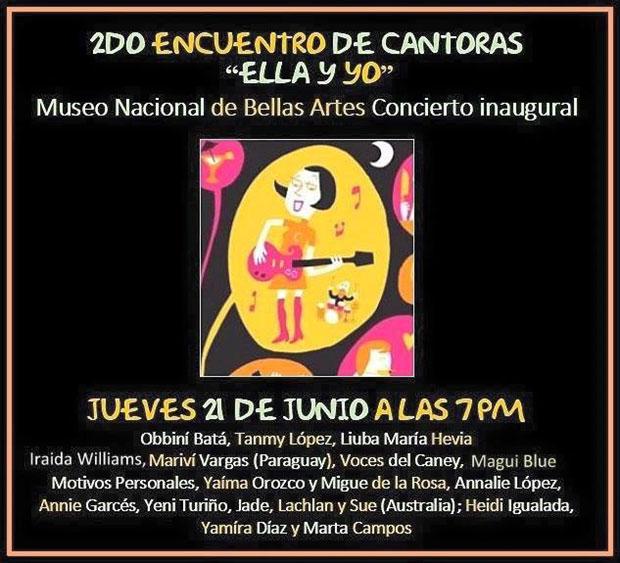 II Encuentro de Cantoras «Ella y yo» La Habana 2018