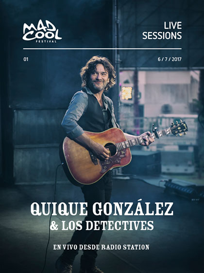 Portada del disco «En vivo desde Radio Station» de Quique González.