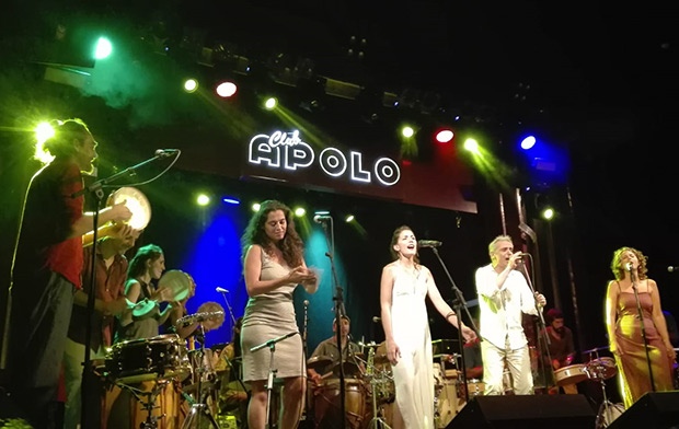 De izquierda a derecha: Aleix Tobias, Sílvia Pérez Cruz, Ana Rossi, Carles Dénia y Rusó Sala. © Carles Gracia Escarp