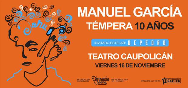 Manuel García celebra los 10 años de «Témpera».